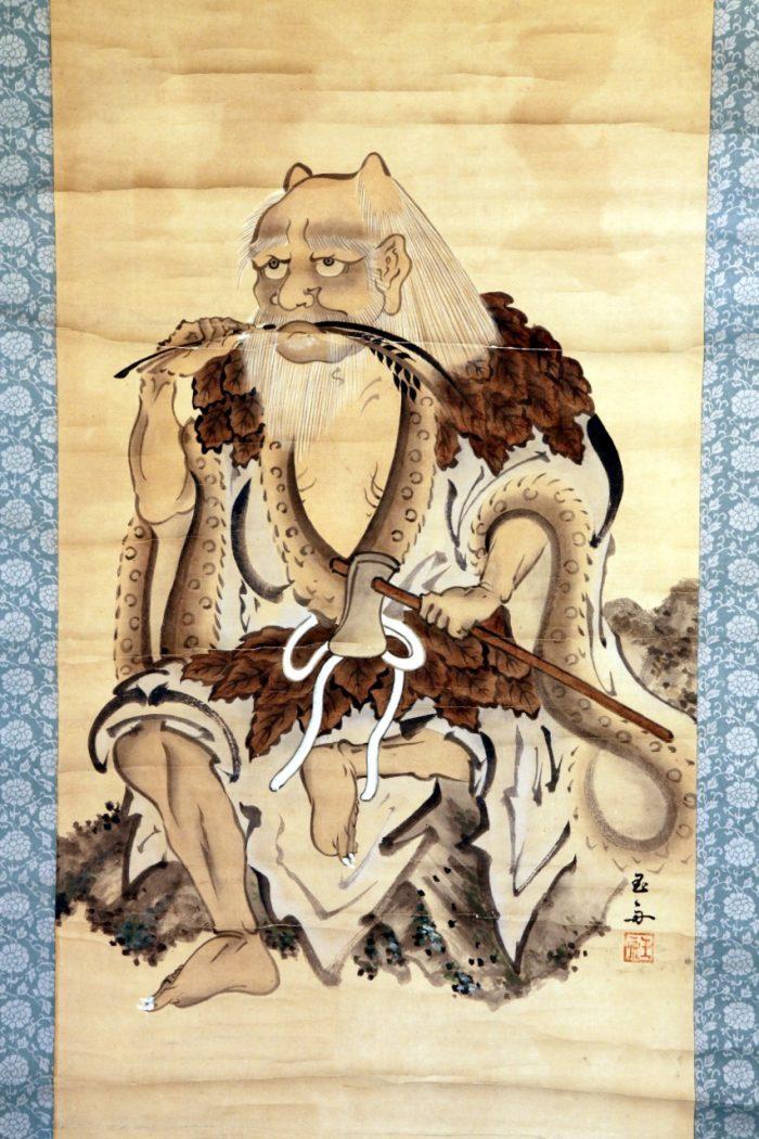 図 玉舟・画 神農図(三光丸クスリ資料館 所蔵)